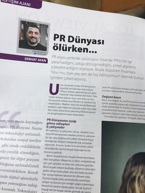 PR Dünyası ölürken…